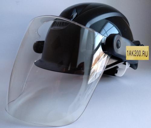 Защитная каска токаря со щитком входит в комплект колесотокарного станка 1ak200