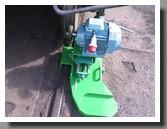 вид привода вращения колесной пары для обточки колесных пар вагонов спереди