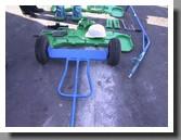 тележка для перевозки мобильного колесотокарного станка для обточки колесных пар без выкатки 1ak200