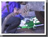 настройка резца колесотокарного устройства станка для обточки колесных пар без выкатки